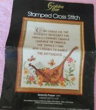 GOLDEN BEE VINTAGE STAMPED Cross Stitch Kit SERENITY PRAYER  #20107 16