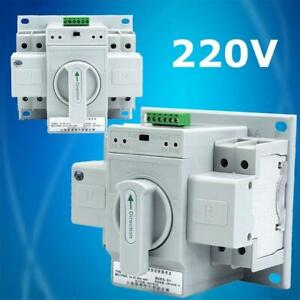 220V 2P 63A Dual Power Automatic Transfer Switch For Generator Changeover Switch