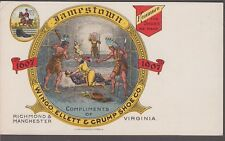 US Victorian Wingo,Ellett & Crump Shoe Co. Jamestown Postcard ad