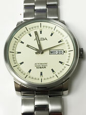 Alba Caliber 7S26 Automatic Day & Date Genuine Vintage Wrist Watch Cream Dial