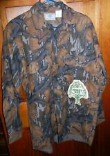 Vntg Mossy Oak Fall Foliage Camo Cotton Flannel Long Sleeve Button Shirt Size M