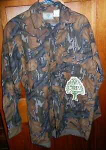 Vntg Mossy Oak Fall Foliage Camo Cotton Flannel Long Sleeve Button Shirt Size M