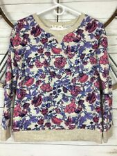 Hippie Rose Juniors Size Small Boho Floral Top Pullover Soft Knit Long Sleeve
