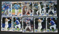 2019 Bowman Paper & Chrome Kansas City Royals Team Set 10 Baseball Cards