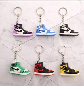*BLACK*Nike Air Jordan 1 3D Mini Shoe Trainer Keyring Keychain UK 🇬🇧