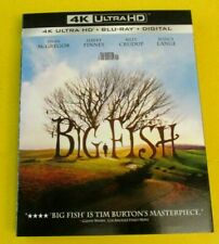 Big Fish 4K Ultra Hd + Blu-ray + Digital Tim Burton Ewan McGregor w/slipcase