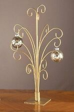 20 Gold Metal Ornament Display Tree - Holds 15 ornaments