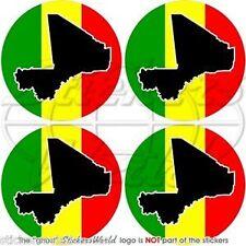 "MALI Malian African Vinyl Bumper-Helmet Stickers-Decals 2""(50mm ) x4"