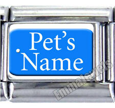 ANY NAME PET DOG TAG UBERRY 9MM ITALIAN PHOTO CHARM