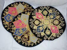 3 Dekokissenbezüge Orient orientalische Kissenbezüge rund mit Reißverschluss