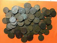 10 copper coins 2 Reichspfennig Third Reich different years  with swastika KM 90