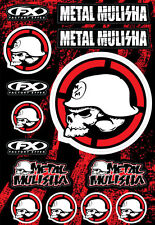 Factory Effex FX LARGE METAL MULISHA STICKER KIT Motorbike Car Truck Stickers