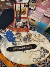 Mixed Metal/ Celestial Jewelry Lot With Wooden Cigar