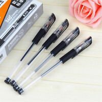 10Pcs 0.5mm Black Ink School Good Writing Ball Pens Rollerball Ballpoint Pen