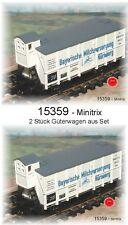 15359 MINITRIX - 2 piezas Vagón de mercancía Club PROFESIONAL 2009 NUEVO