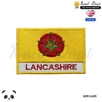 LANCASHIRE England County Flag With Name Embroidered Iron On Sew On Patch Badge
