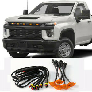 5x For Chevrolet Silverado 2500 HD 2020 2021 Grille LED Light Raptor Style Grill
