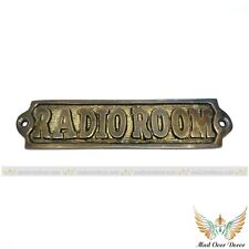 HANDCRAFTED ANTIQUE FINISH BRASS ENGRAVED RADIO ROOM TAG HOME OFFICE DOOR SIGN