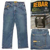 Ariat Denim M5 Slim Straight Stretch Jeans Men's 32 x 30 Embroidered Snag