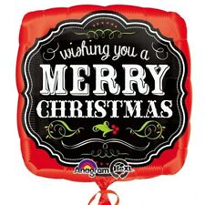 Party Supplies Merry Christmas Chalkboard Design 45cm Foil Balloon