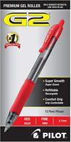 Pilot G2 Retractable Premium Gel Ink Roller Ball Pens, 0.7, Red, 12 Count