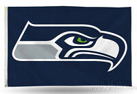 Seattle Seahawks Rico 3x5 Flag w/grommets Outdoor House Banner NFL Football