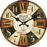 Wooden Clocks Wall Watch Decoration Retro Style Home Art Cardboard Clocks Decor