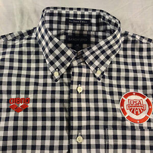 Arena USA Swimming 100% Non Iron TWILL Formal Long-Sleeved Mens/Unisex Shirt New