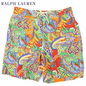 Polo Ralph Lauren Paisley Print Swimsuit Swim Shorts - Orange - Size XL