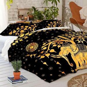Hippie Gypsy King Size Quilt Duvet Cover Mandala Boho Indian Bedding Cover Set