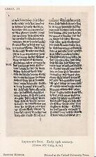 Museum Postcard - Layamon's Brut - Early 13th Century     SL1010
