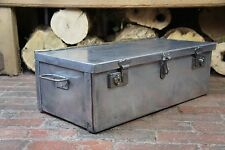 Polished Antique Aluminium Trunk Chest