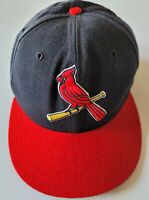 Vintage 90s St Louis Cardinals Wool Fitted Hat Cap 7 1/4 New Era 5950 USA
