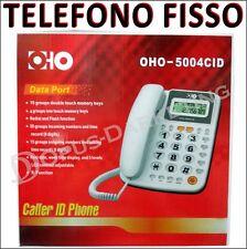 TELEFONO FISSO MULTIFUNZIONE  IDENTIFICATORE CHIAMATA LCD DISPLAY TASTI RAPIDI