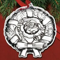 2018 Kirk Repousse Wreath 10th Edition Annual Sterling Ornament - NEW