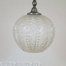 60's XL Kristall Glas Bubble Deckenleuchte Kugelleuchte 35 cm Kalmar Stejnar Ära