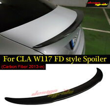 for Mercedes Benz W117 Cla45 Fd Style Dry Carbon Fiber Rear WIng Spoiler 2013-18