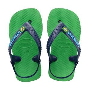 Havaianas Flip-Flops Elastisch Junge Baby Brasil Logo Grün Folha