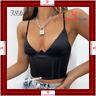 V Neck Sleeveless Corset Crop Top Black Women 2021 Sexy Backless Summer