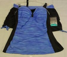 NEW Free Country Swim Set Bandeaux Tankini Top & Skort Sea Mist Size Small $90