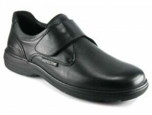 MEPHISTO Homme Mod DELIO: Chaussures basses velcro Noir EUR 11- NEUF-