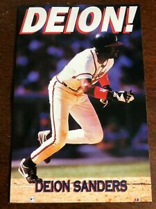 """Vintage Deion Sanders """"DEION"""" Costacos Brothers FULL SIZE WALL Poster SEALED!!"""