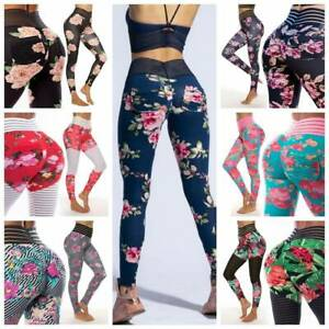 Womens Sport Compression Fitness Leggings Running Ladies Gym Yoga Pants Trousers
