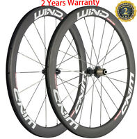 50mm Carbon Wheelset Road Bike Clincher Bicycle Wheels 700C Cycle Front+Rear