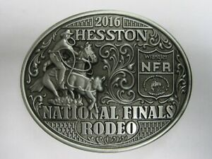 National Finals Rodeo Hesston 2016 NFR Adult Cowboy Buckle New Wrangler AGCO
