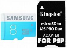 SAMSUNG 8GB Micro SD MS PRO Duo Adapter For PSP E1000 1000 2000 3000 3001 3003