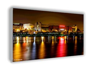 Manchester United Old Trafford Stylized Picture Wall Canvas Print Picture