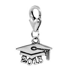 2018 Graduate Cap Hat Graduation Gift Lobster Clip On Dangle Charm for Bracelets