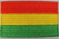 Bolivien Aufnäher gestickt,Flagge Fahne,Patch,Aufbügler,6,5cm,neu