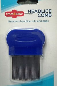 Metal Nit Hair Comb with Handle + brush Remove Head Lice & Eggs Effectively
